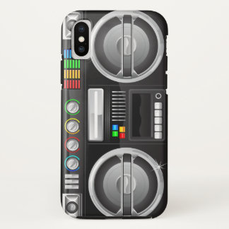 Capa Para iPhone X o arco-íris retro abotoa o mestre do gueto do