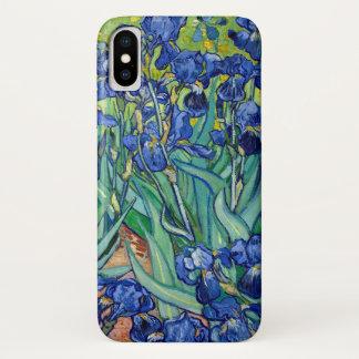 Capa Para iPhone X O azul de Vincent van Gogh das íris floresce a