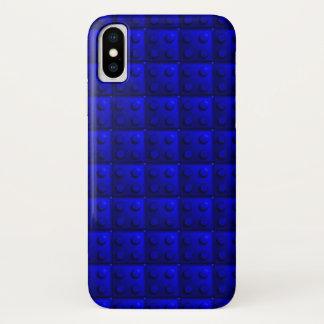 Capa Para iPhone X O azul obstrui o teste padrão