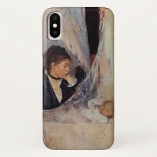 Capa Para iPhone X O berço por Berthe Morisot