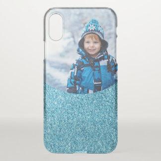 Capa Para iPhone X O brilho azul do falso cria sua própria imagem da