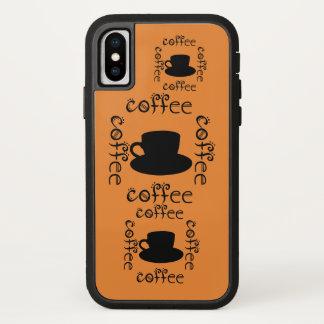 Capa Para iPhone X O café acorda a bebida quente do divertimento das