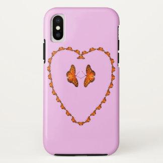 Capa Para iPhone X o caso do iPhone X, borboletas no coração - dance