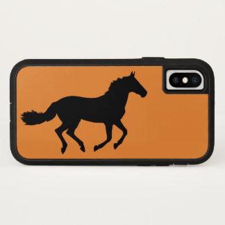 Capa Para iPhone X O cavalo que funciona a raça eqüino funciona