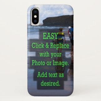 Capa Para iPhone X O clique simples e substitui a foto para criar