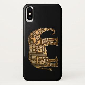 Capa Para iPhone X O conselho de circuito de cobre do elefante
