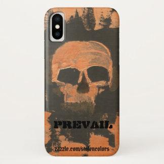 Capa Para iPhone X O crânio de cobre prevalece