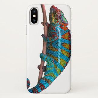 Capa Para iPhone X O exemplo do camaleão, cobrir do iphone x colore o