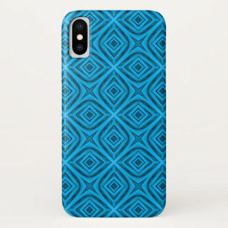 Capa Para iPhone X O exemplo do iPhone   X de Kaleidoscop dos azuis