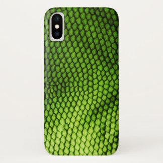 Capa Para iPhone X O falso exótico Iquana escala o impressão animal