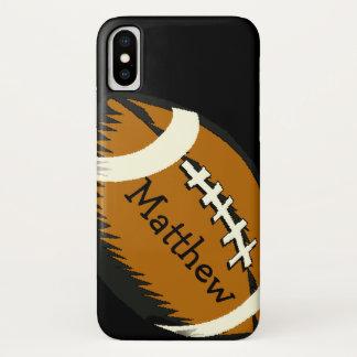 Capa Para iPhone X O futebol de Brown ostenta o caso do iPhone X