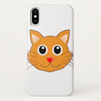 Capa Para iPhone X O gato alaranjado com o nariz vermelho