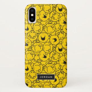 Capa Para iPhone X O grupo do teste padrão amarelo   dos sorrisos