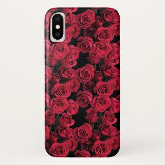 Capa Para iPhone X O jardim de rosa vermelha floresce a caixa floral