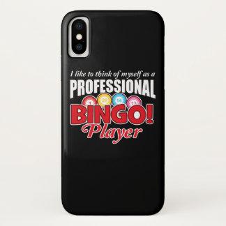 Capa Para iPhone X O jogador do Bingo pensa-se como o profissional