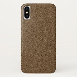 Capa Para iPhone X O olhar confortavelmente da textura da camurça de