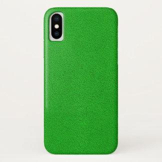 Capa Para iPhone X O olhar da camurça verde de néon confortavelmente