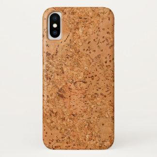Capa Para iPhone X O olhar da grão da madeira do Burl da cortiça da