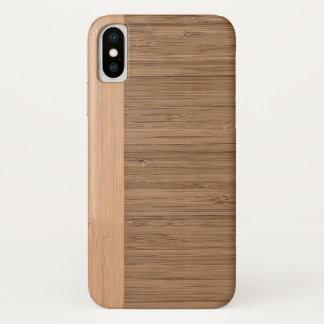 Capa Para iPhone X O olhar da grão de madeira da beira de bambu na