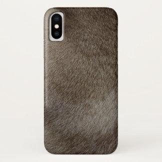 Capa Para iPhone X O olhar da pele luxuoso do gato Siamese do ponto