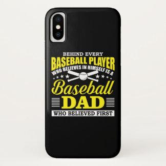 Capa Para iPhone X O pai do basebol acredita no jogador de beisebol