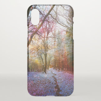 Capa Para iPhone X O primeiro inverno Enchanted ilumina o trajeto de