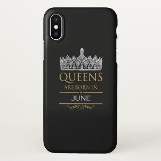 Capa Para iPhone X O Queens é nascido em junho