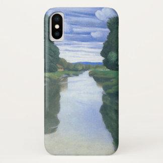Capa Para iPhone X O rio em Berville por Felix Vallotton