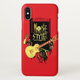 Capa Para iPhone X O ruído é meu vermelho corajoso do estilo | legal
