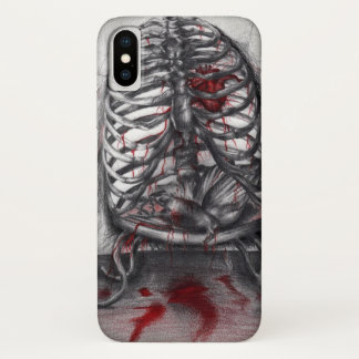 Capa Para iPhone X O ser humano vazio da gaiola marca a arte surreal