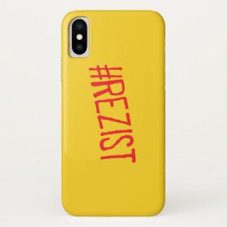 Capa Para iPhone X o slogan político de romania do rezist resiste o