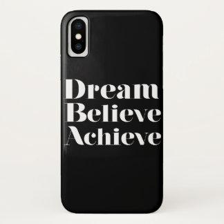 Capa Para iPhone X O sonho acredita consegue