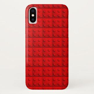 Capa Para iPhone X O vermelho obstrui o teste padrão