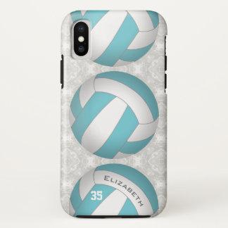 Capa Para iPhone X o voleibol cor feita sob encomenda das mulheres