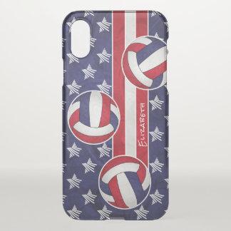 Capa Para iPhone X o voleibol das mulheres abstratas da bandeira dos