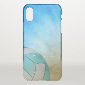 Capa Para iPhone X O voleibol das mulheres da praia do oceano