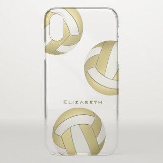 Capa Para iPhone X o voleibol das mulheres personalizadas do ouro