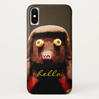 "Capa Para iPhone X ""Olá!"" figura bonito, engraçada, doce, impar foto"