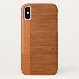 Capa Para iPhone X Olhar de madeira da grão da beira de bambu da