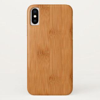 Capa Para iPhone X Olhar de madeira da grão do brinde de bambu