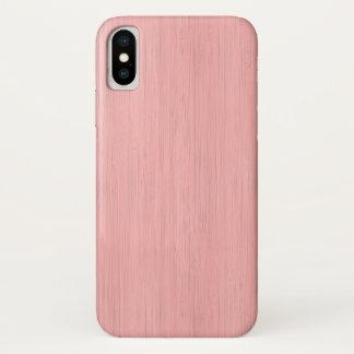 Capa Para iPhone X Olhar de madeira de bambu da grão de quartzo