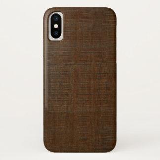 Capa Para iPhone X Olhar de madeira de bambu rústico da textura da