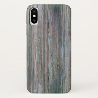 Capa Para iPhone X olhar de madeira de bambu Tempo-batido da grão