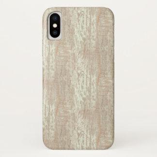 Capa Para iPhone X Olhar litoral Subdued da grão da madeira de pinho