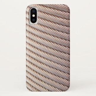 Capa Para iPhone X Olhar trançado de cobre do cabo