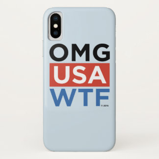 CAPA PARA iPhone X  OMG EUA WTF