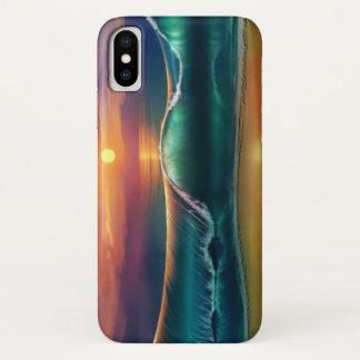 Capa Para iPhone X Onda da praia
