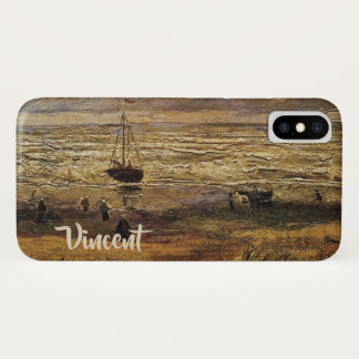 Capa Para iPhone X Opinião do mar em Scheveningen, belas artes de Van
