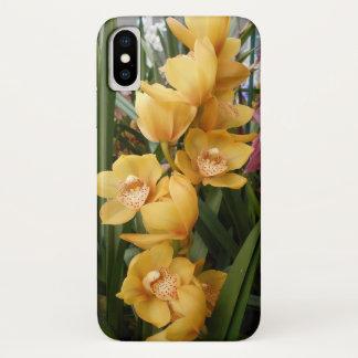 Capa Para iPhone X Orquídeas amarelas e cor-de-rosa