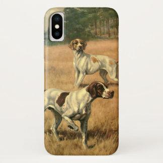 Capa Para iPhone X Os animais do vintage, ponteiro perseguem a caça